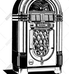 jukebox 1 retro clipart illustration [ 1200 x 1620 Pixel ]