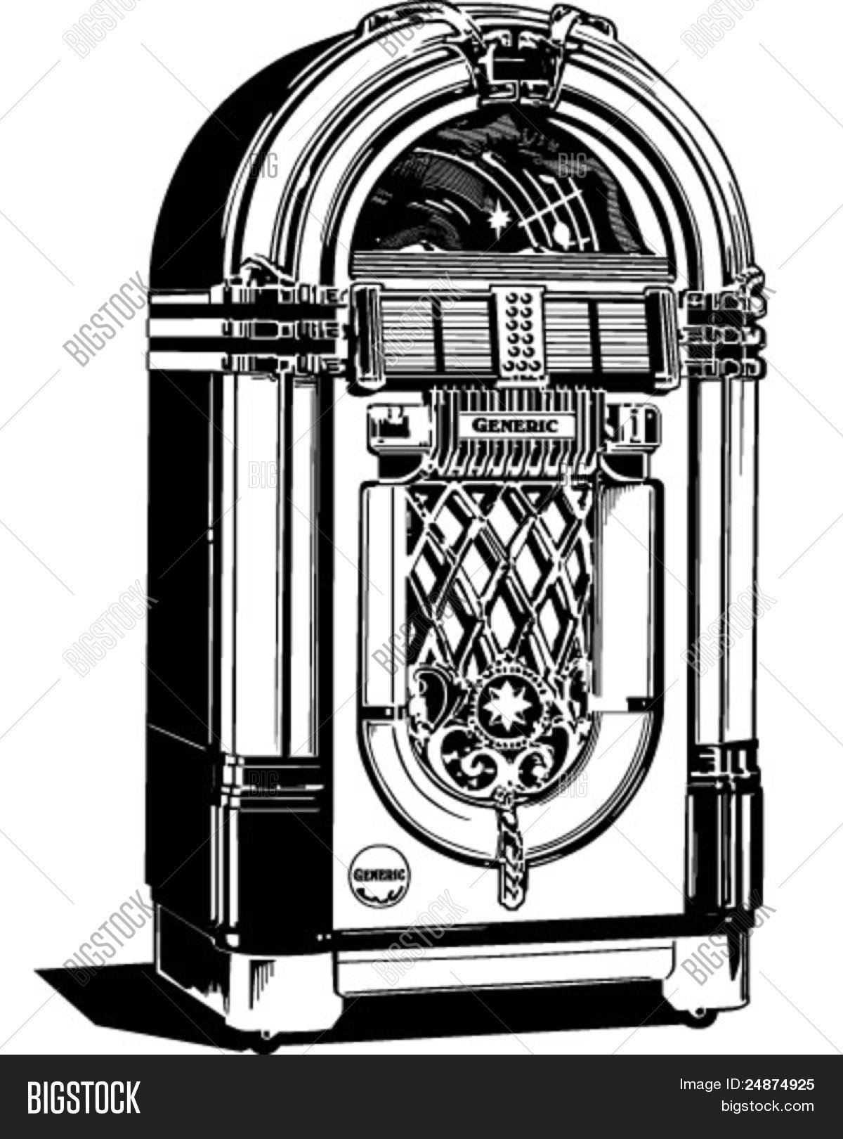 hight resolution of jukebox 1 retro clipart illustration