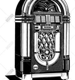 jukebox 2 retro clipart illustration [ 1200 x 1620 Pixel ]