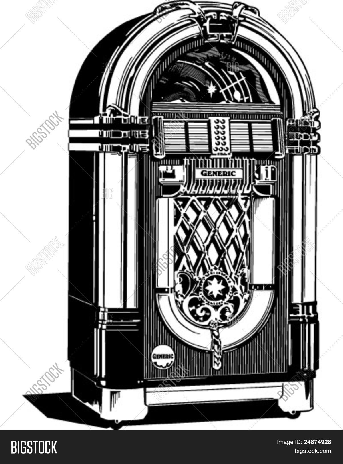 hight resolution of jukebox 2 retro clipart illustration