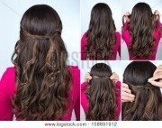 simple knotted hairstyle curly