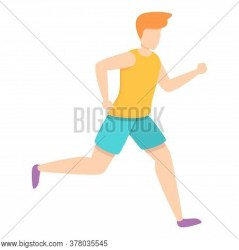 Sprint Running Icon Vector & Photo Free Trial Bigstock