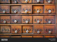 Antique Wooden Medicine Cabinet Image & Photo