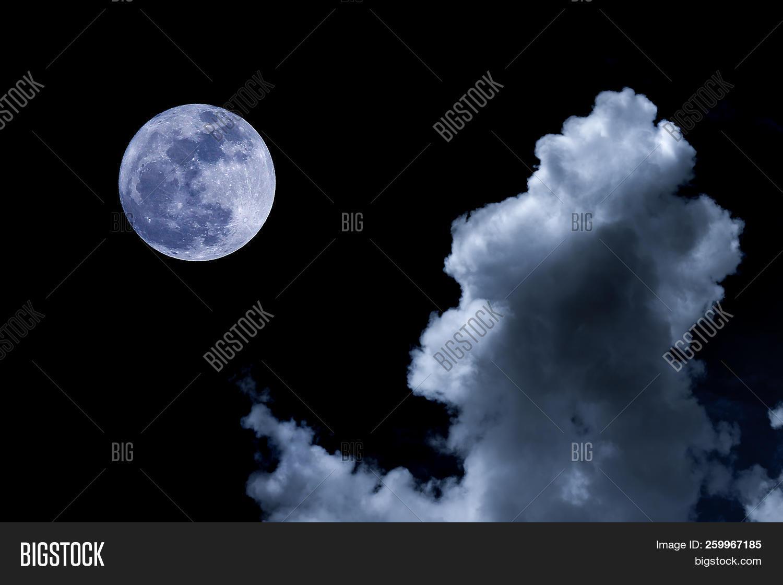 moon night sky big