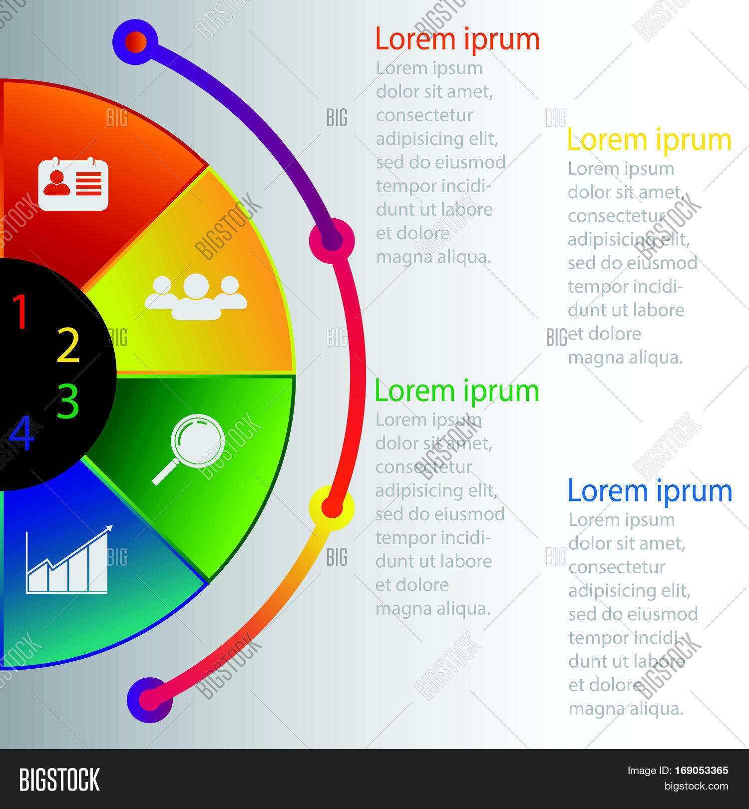 hight resolution of abstract 3d circular digital illustration infographic vector illustration can be used for workflow layout