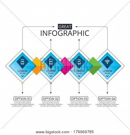 diagram of evolution timeline yaskawa v1000 drive wiring infographic flowchart vector photo free trial bigstock template business with options mobile telecommunications icons 3g 4g