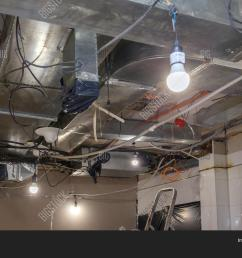 installation and repair of electric cable lamp bulb smoke detector fire alarm system before installing a stretch or suspended ceiling  [ 1500 x 1120 Pixel ]