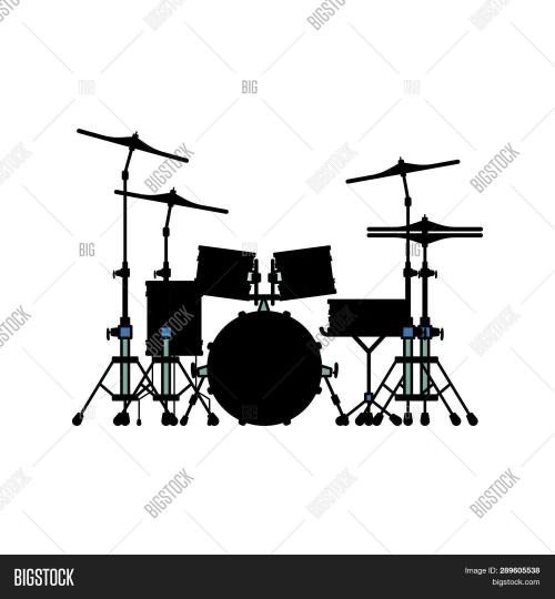small resolution of drum set icon flat color design vector illustration