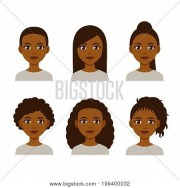 black women faces vector &