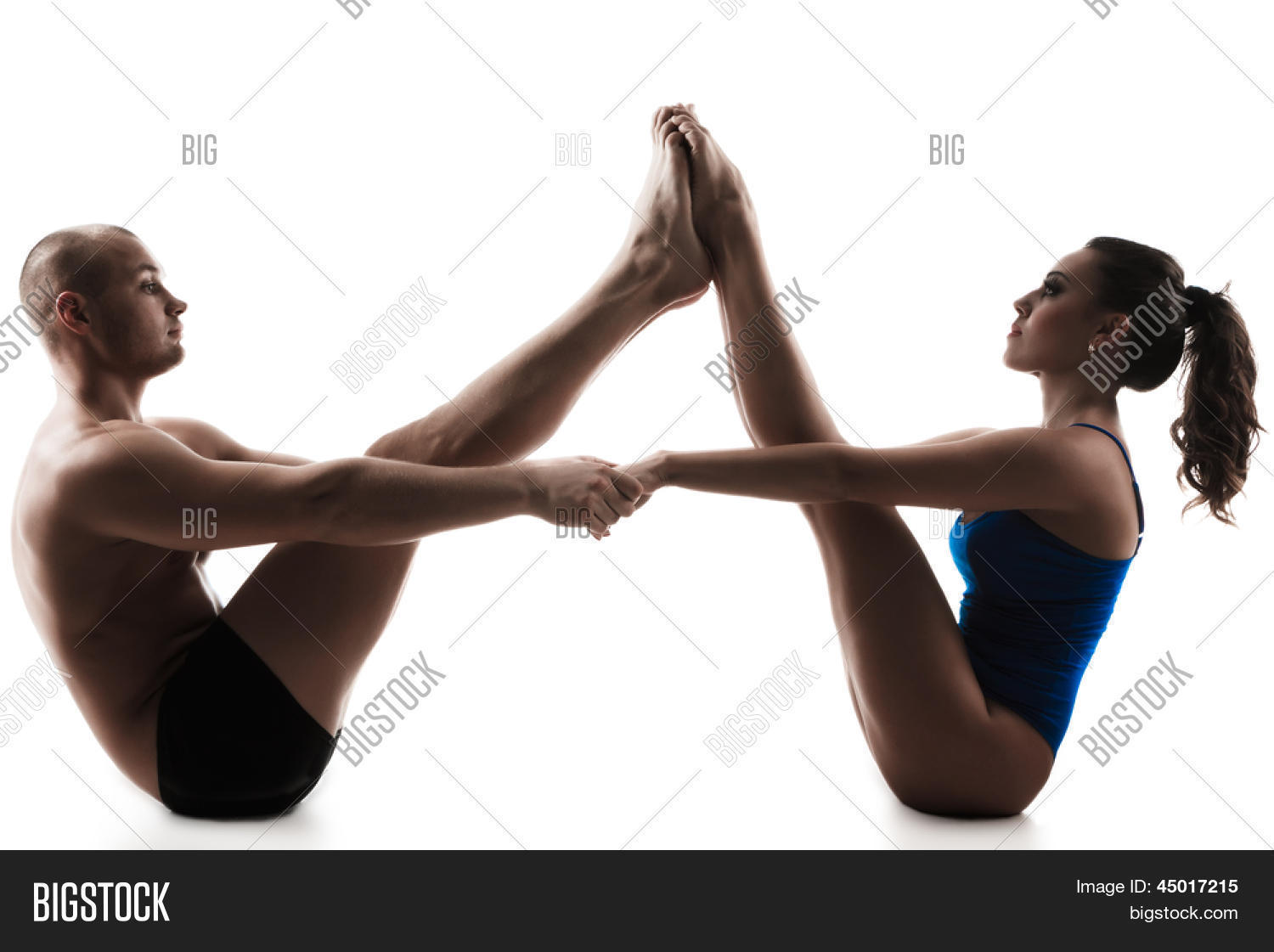 Poses Yoga Challenge Two Person