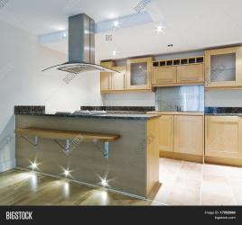 isle breakfast designer bar kitchen modern
