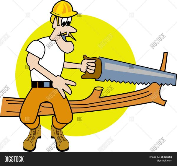 Tree Cutting Trimming Service Clip Art Stock Vector