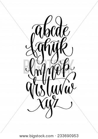 Black And White Hand Lettering Alphabet Design