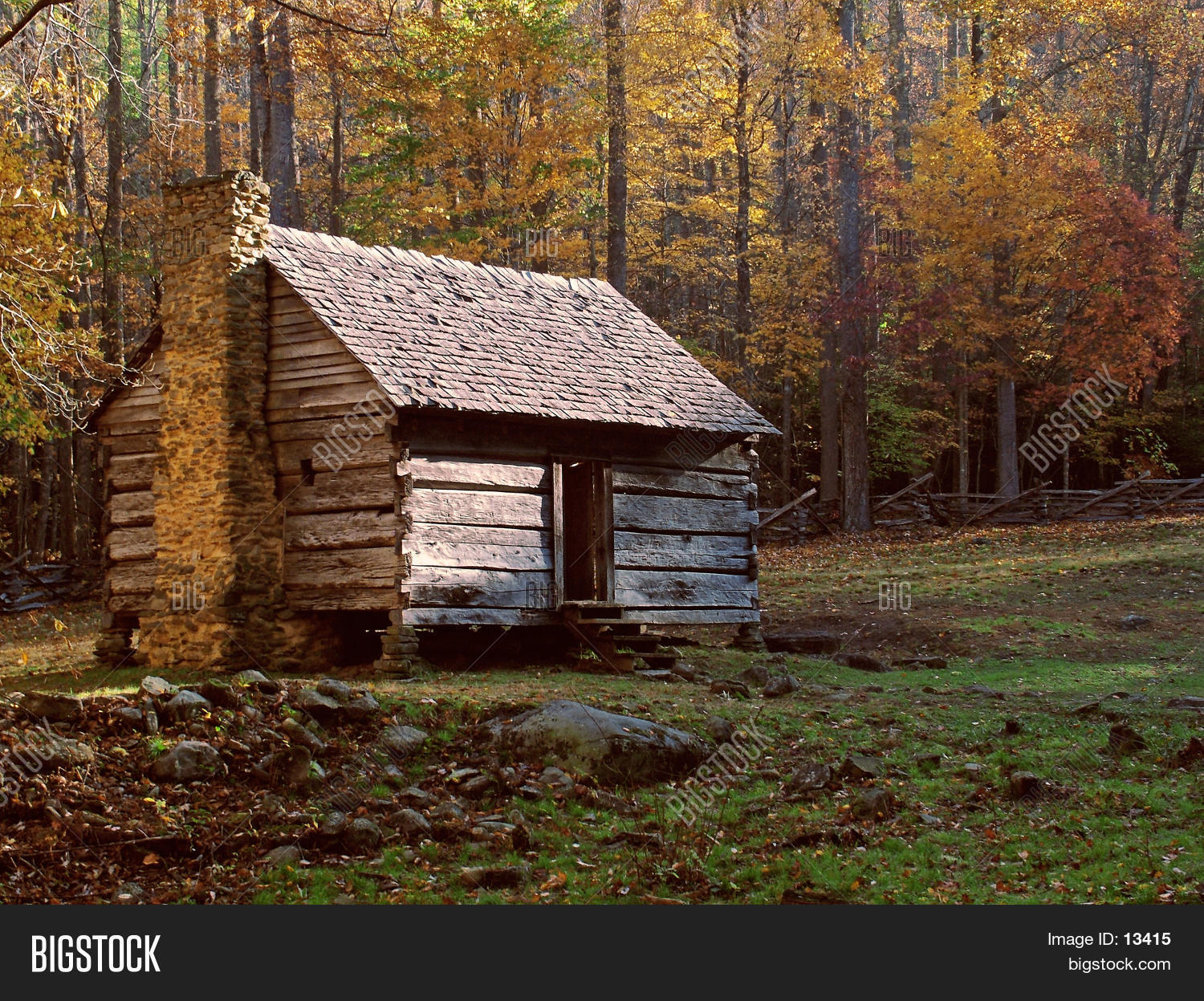 Old Log Cabin Stock Photo  Stock Images  Bigstock