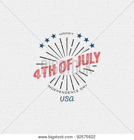 Fourth Of July Independence Day Usa Badges Logos And