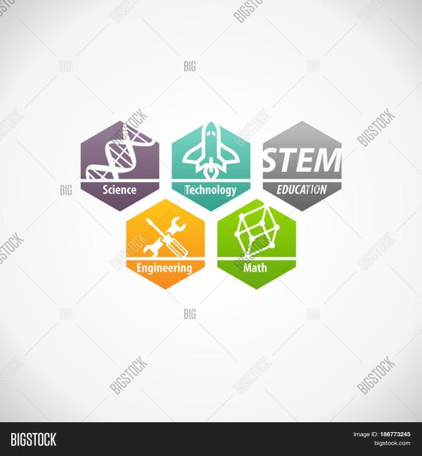 Stem Education Concept Logo. & Bigstock