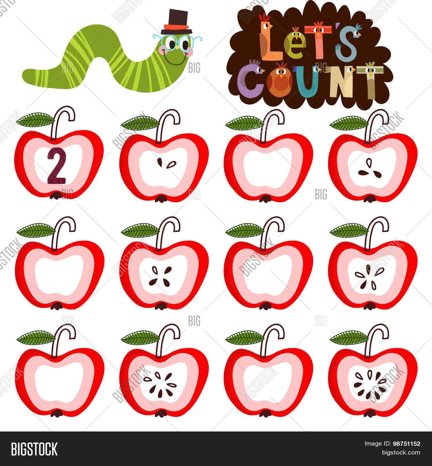 Let S Count Learn Count Numbers Vector Amp Photo