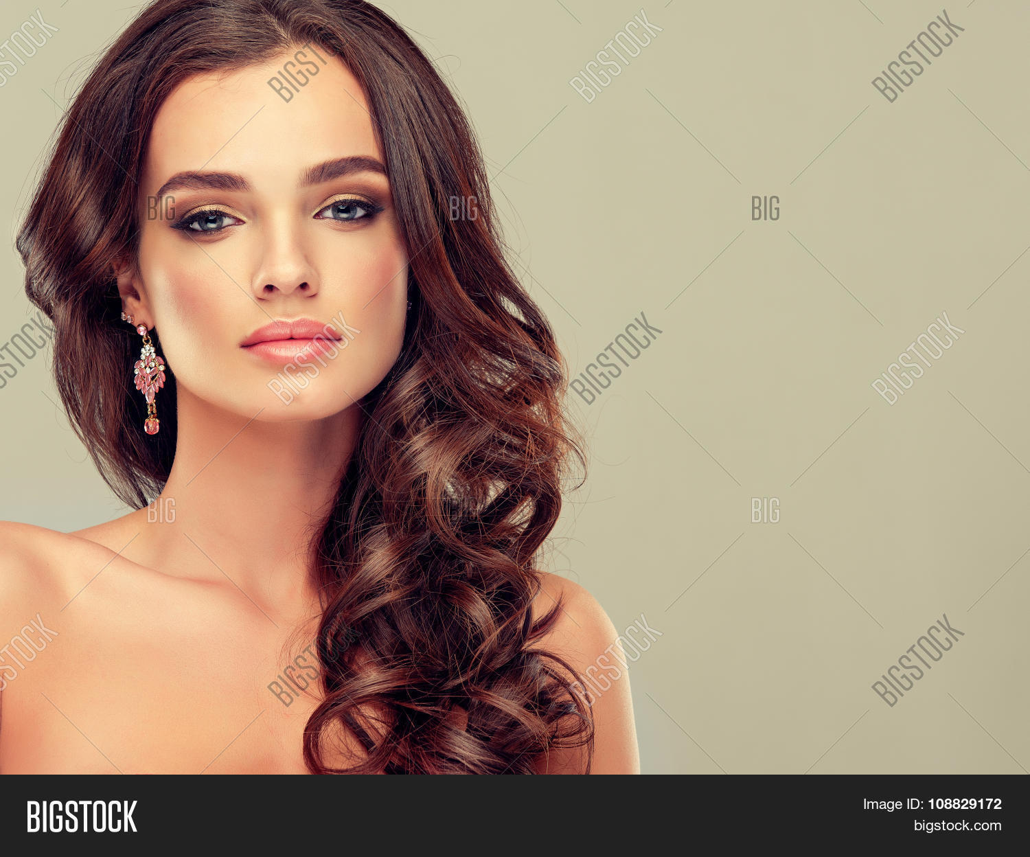 Beautiful Girl Light Brown Hair With An Elegant Hairstyle Hair