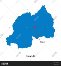 Detailed Vector Map Rwanda Capital & Bigstock