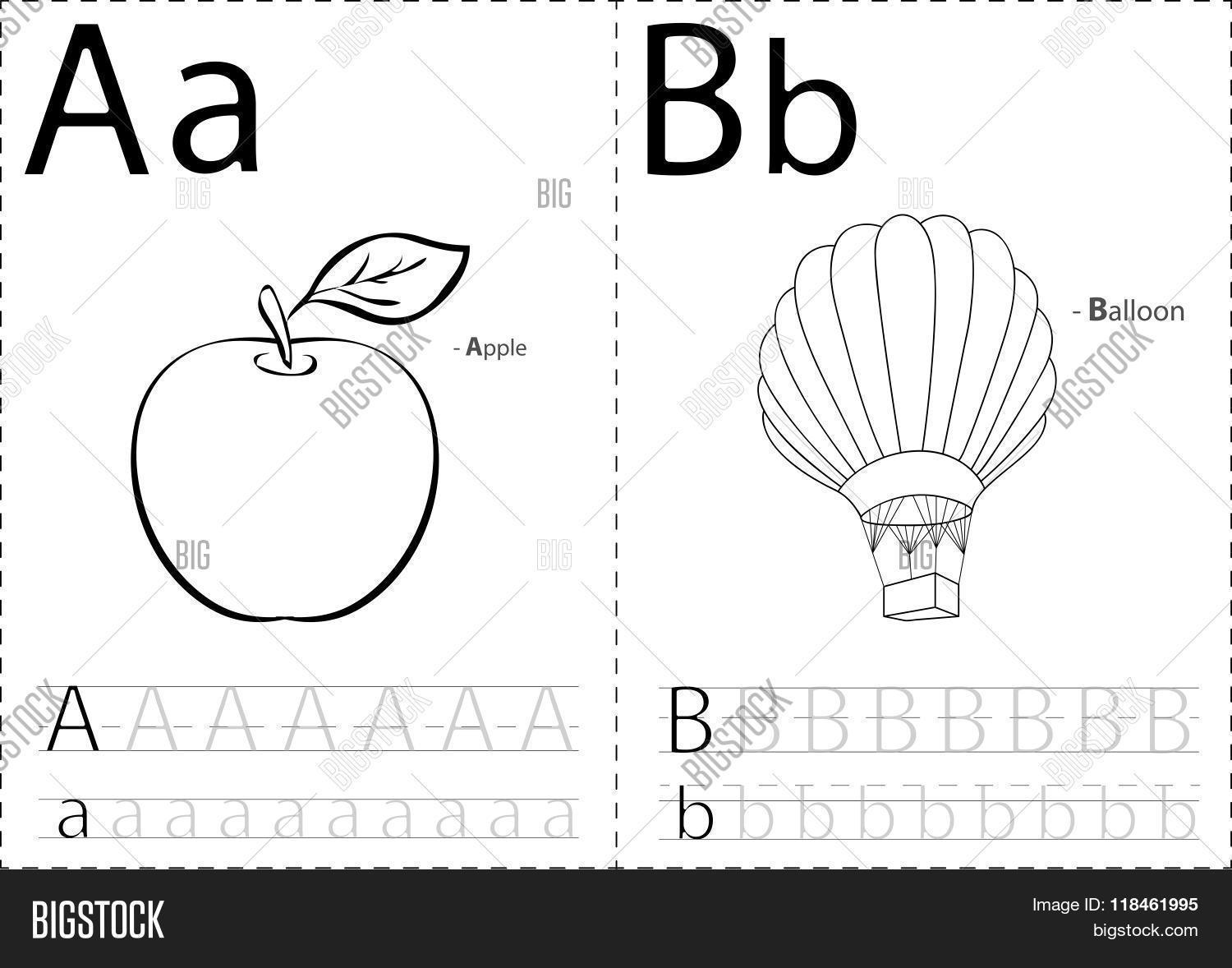 Cartoon Apple Balloon Alphabet Vector Amp Photo