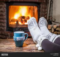 Warming Relaxing Near Fireplace. Image & Photo   Bigstock