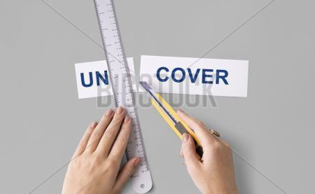 Uncover Hand Cut Word Split Concept Image Photo Bigstock