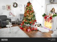 Cozy Christmas Interior Living Room Image & Photo | Bigstock