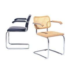 Patio Chair Replacement Glides Recovering Cushions Vinyl Marcel Breuer Cesca Side