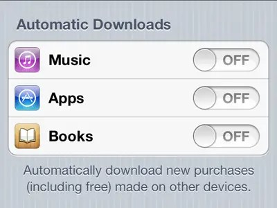 Automatically download new apps directly on your iPhone