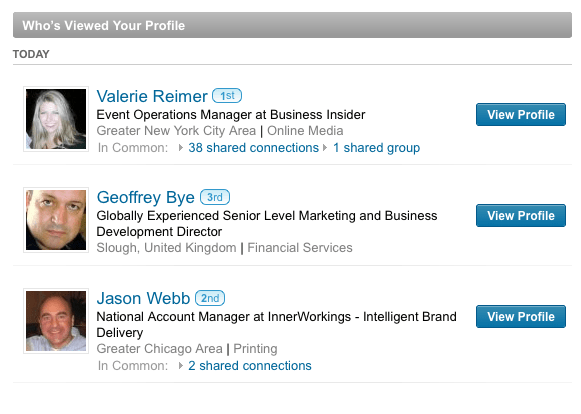 When stalking other people on LinkedIn, you don't make yourself anonymous