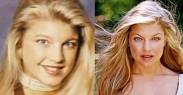 Fergie from the Black Eyed Peas has maintained a similar hairstyle since she was a high school student at Hacienda Heights in California.