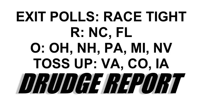 Divergence and Convergence: Drudge Leaks Cryptic Exit Poll