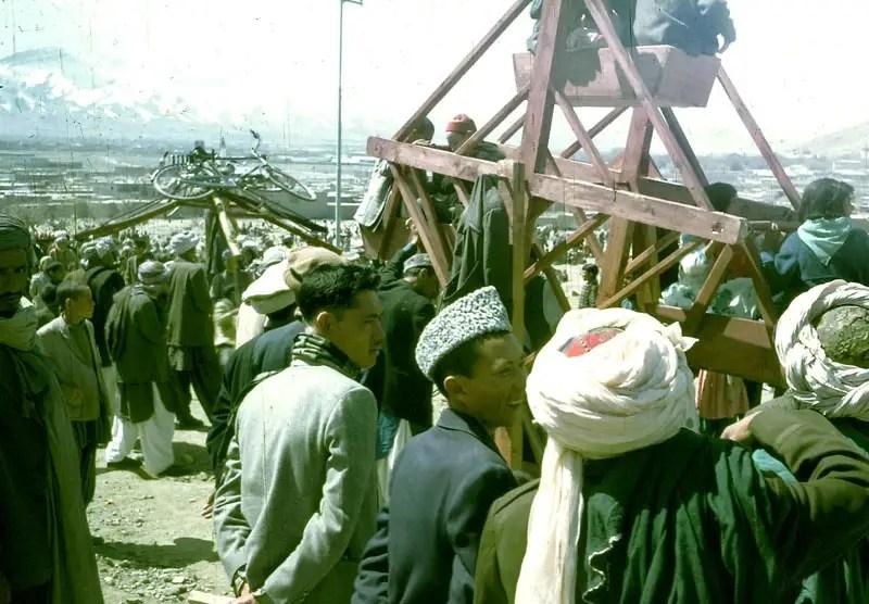 An Afghan fair, complete with a ferris wheel.