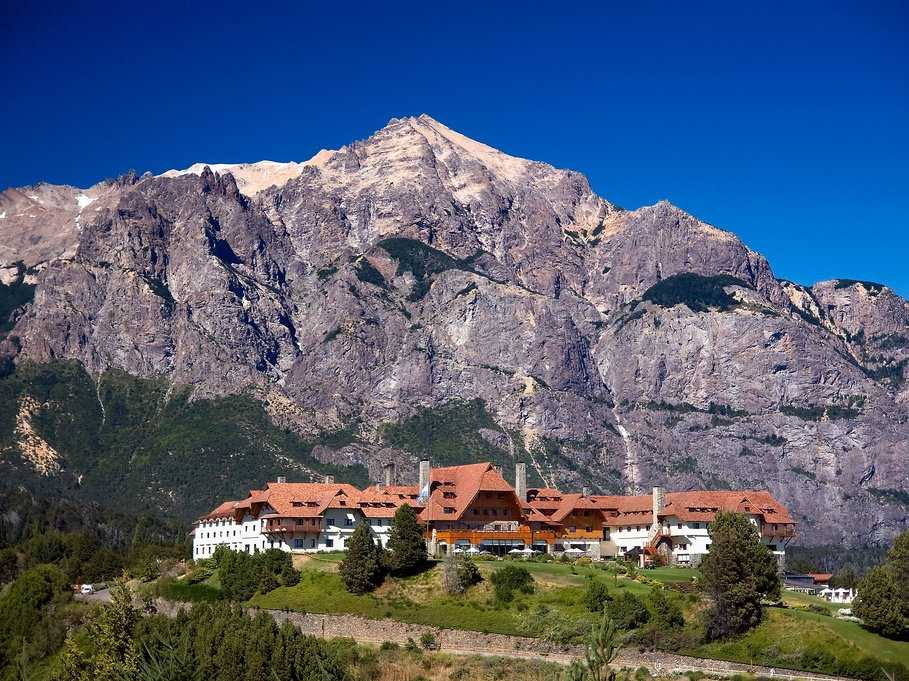 Sip on afternoon tea at the Llao Llao Hotel in the mountains of Bariloche, Argentina.