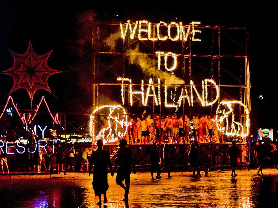 Dance until sunrise at the all-night Full Moon Party on the island of Ko Pha Ngan, Thailand.