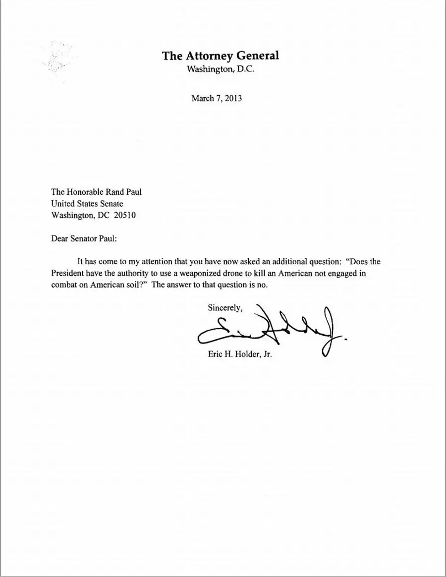 The White House Drone Letter That Set Off Rand Paul's