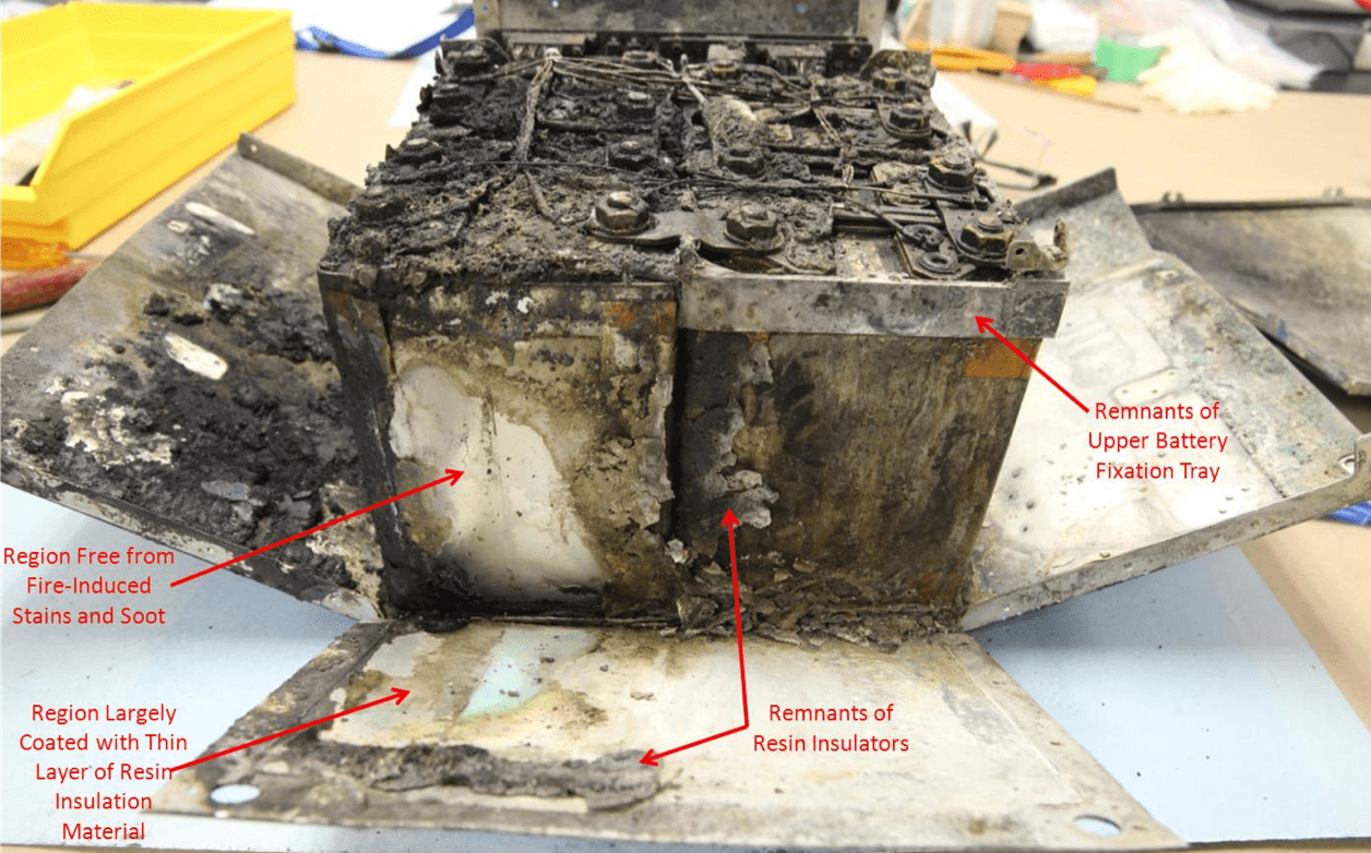 """With """"side 3"""" of the casing folded down, the damage looks even worse."""