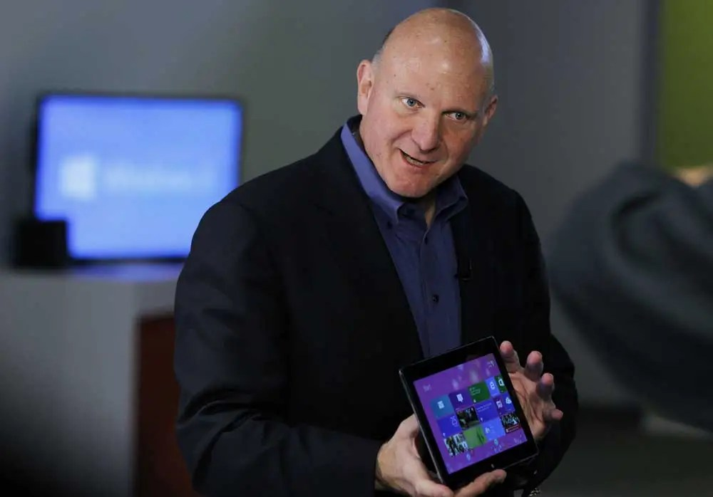 Microsoft's Steve Ballmer: Navigating the iconic company through rough waters.