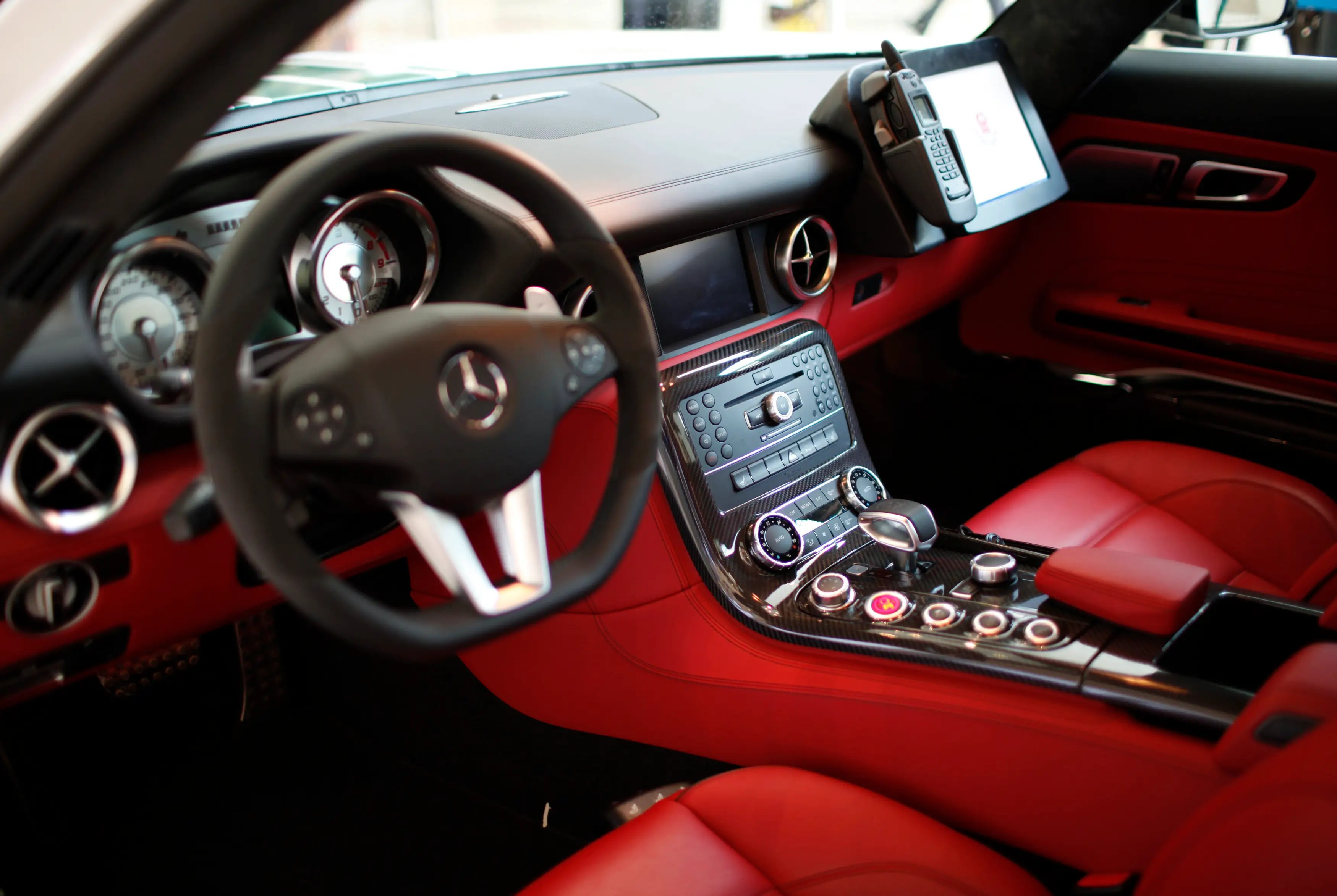Red leather makes for a nicer interior that what most cops get to enjoy.