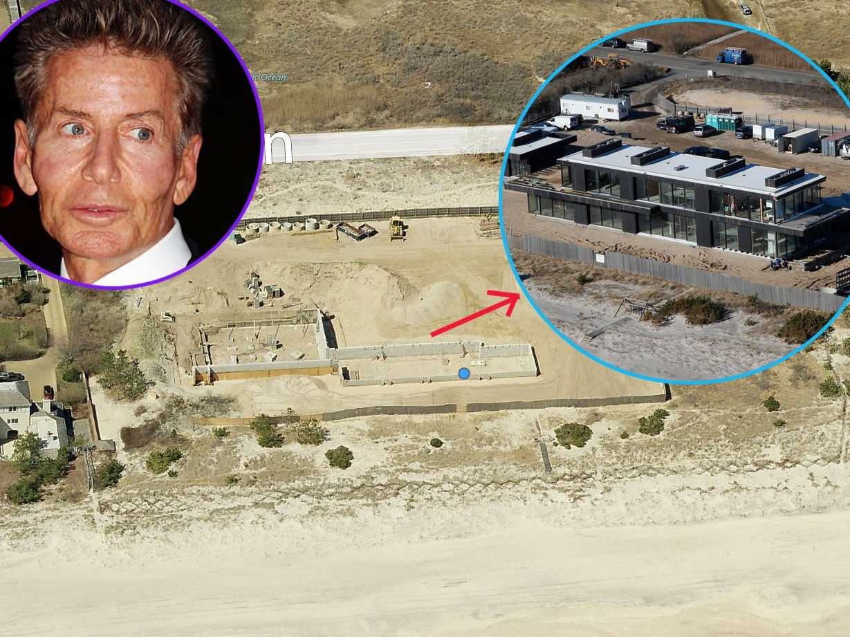 Famous designer Calvin Klein tore down a huge castle-like home to build his dream glass-and-concrete mansion. The $22.8 million property also has a seven-car garage.
