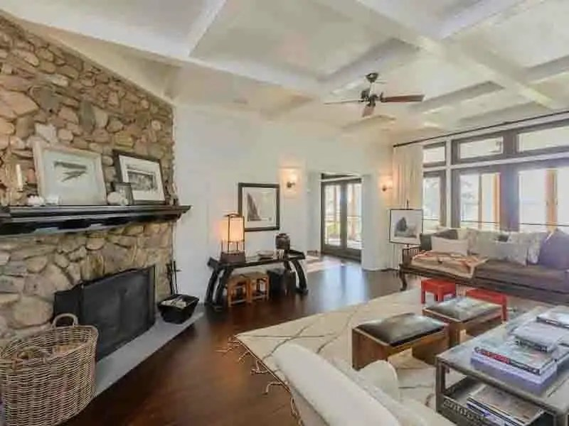 It has over 12,000 square feet of space inside with three fireplaces.