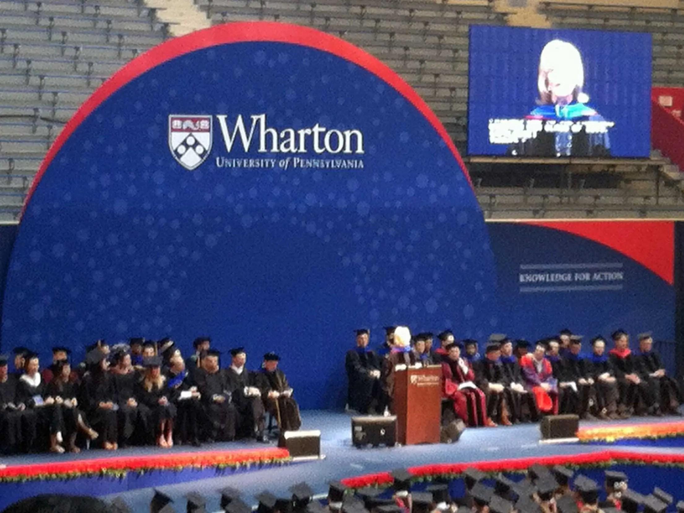 wharton university of pennsylvania graduation
