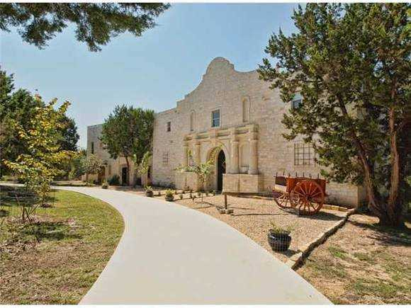 You can live in a replica of the Alamo.