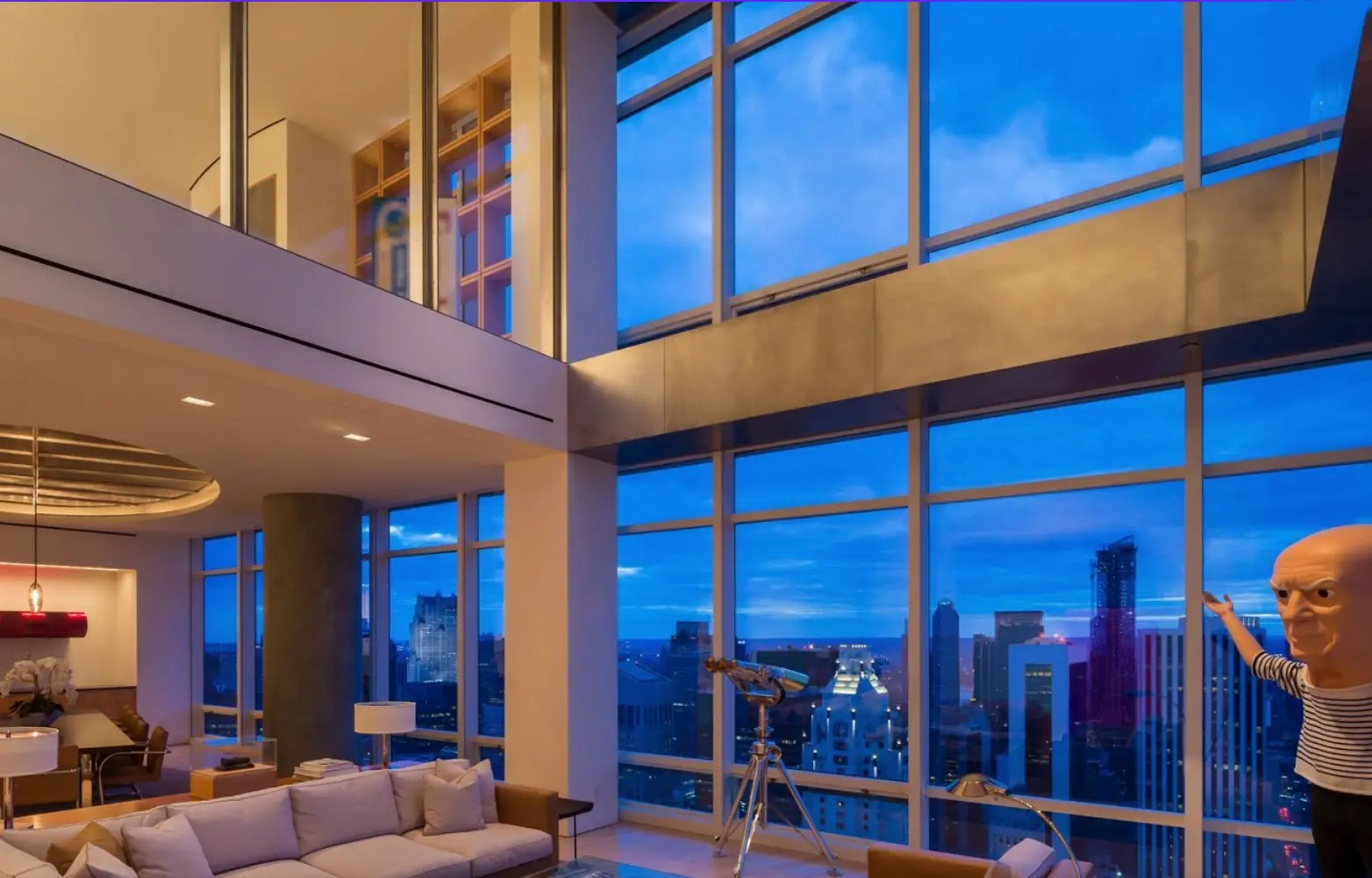 #3 Financier Steve Cohen listed his Upper East Side duplex penthouse for $115 million in April. The 9,000 square foot, 6 bedroom, 6.5 bathroom apartment at One Beacon Court was designed by famed architect Charles Gwathmey.