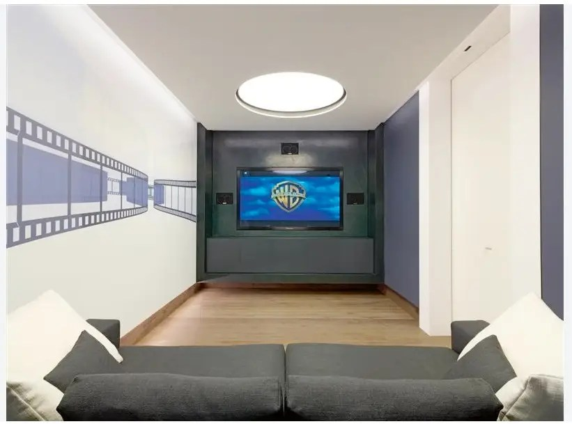 Home owners can relax with a movie in the screening room.