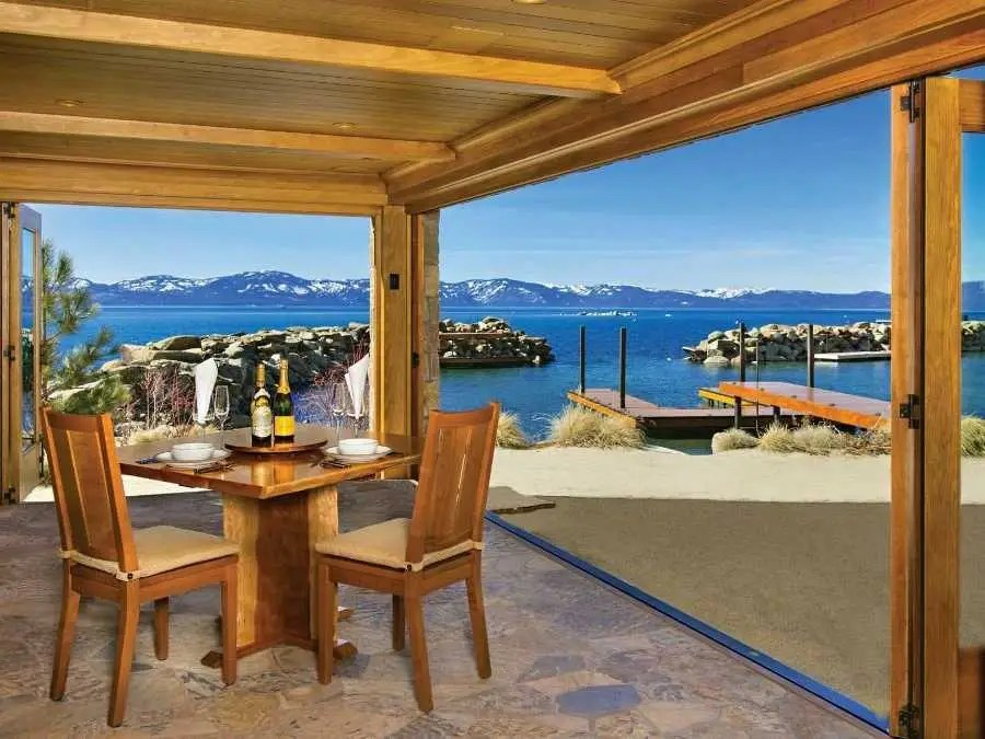 This open-air space is perfect if you'd like to sip champagne while looking out on your private beach.