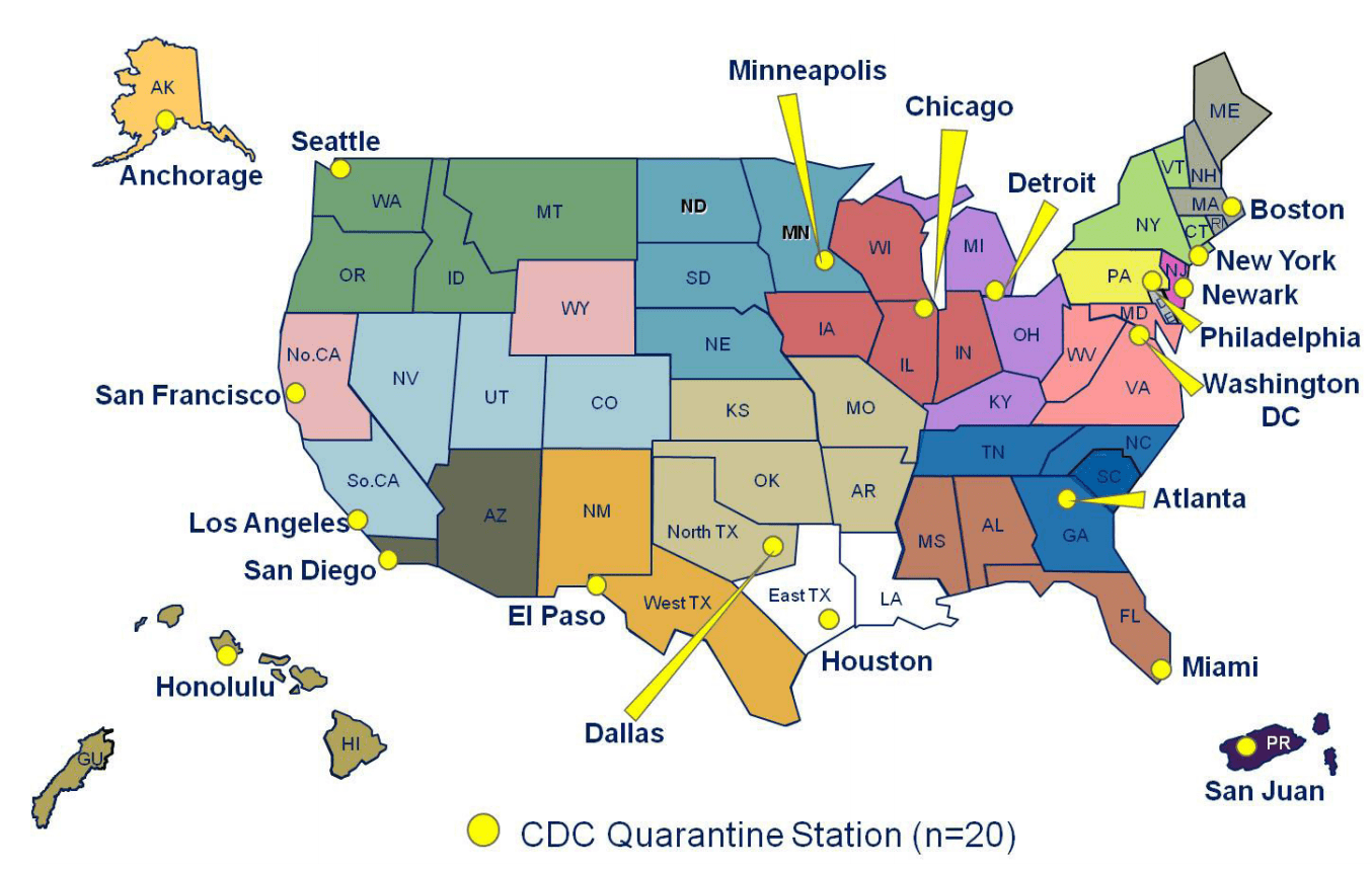 cdc quarantine stations map ebola