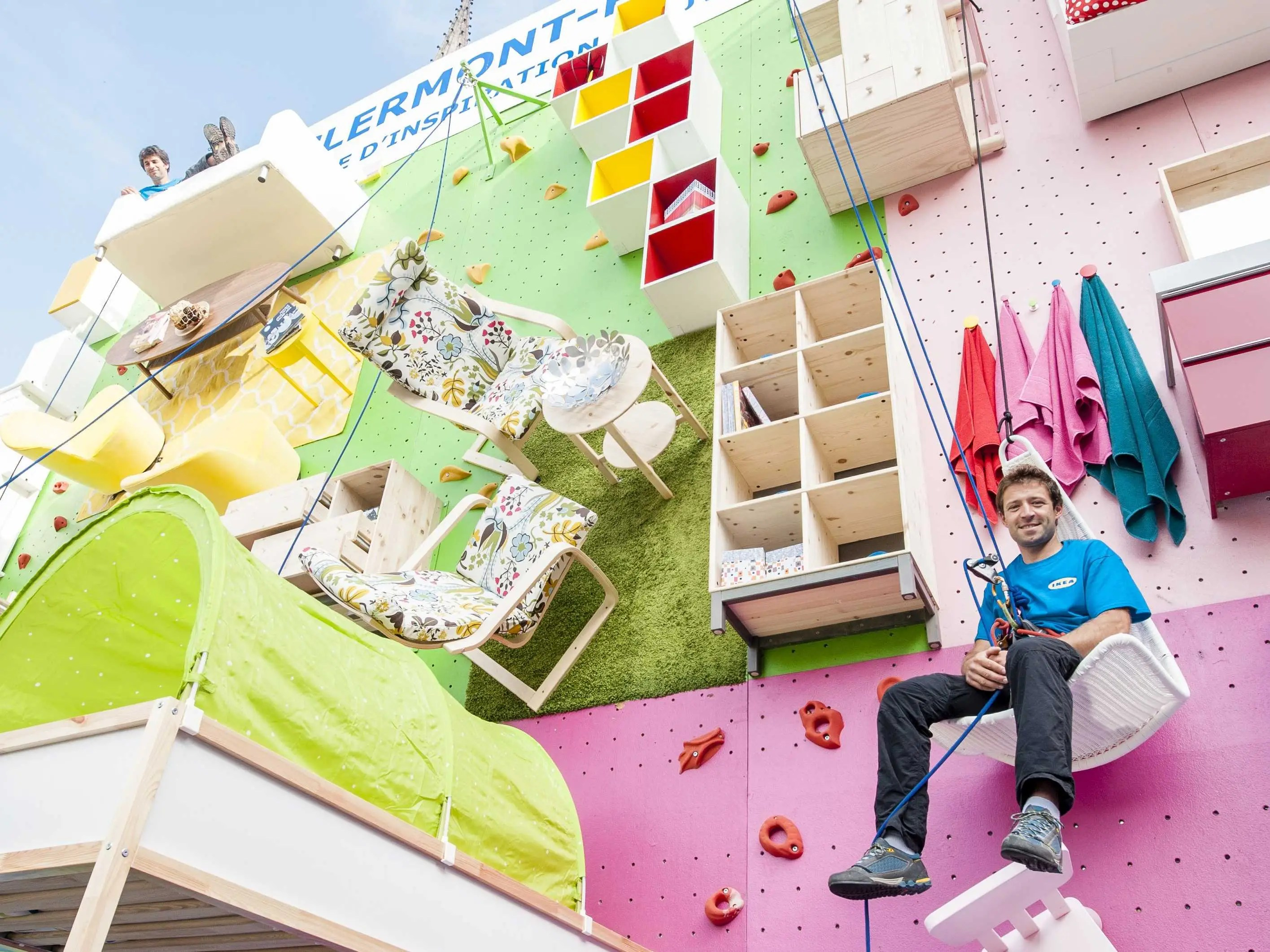 Ikea Built An Awesome Rock Climbing Wall In France Using Its