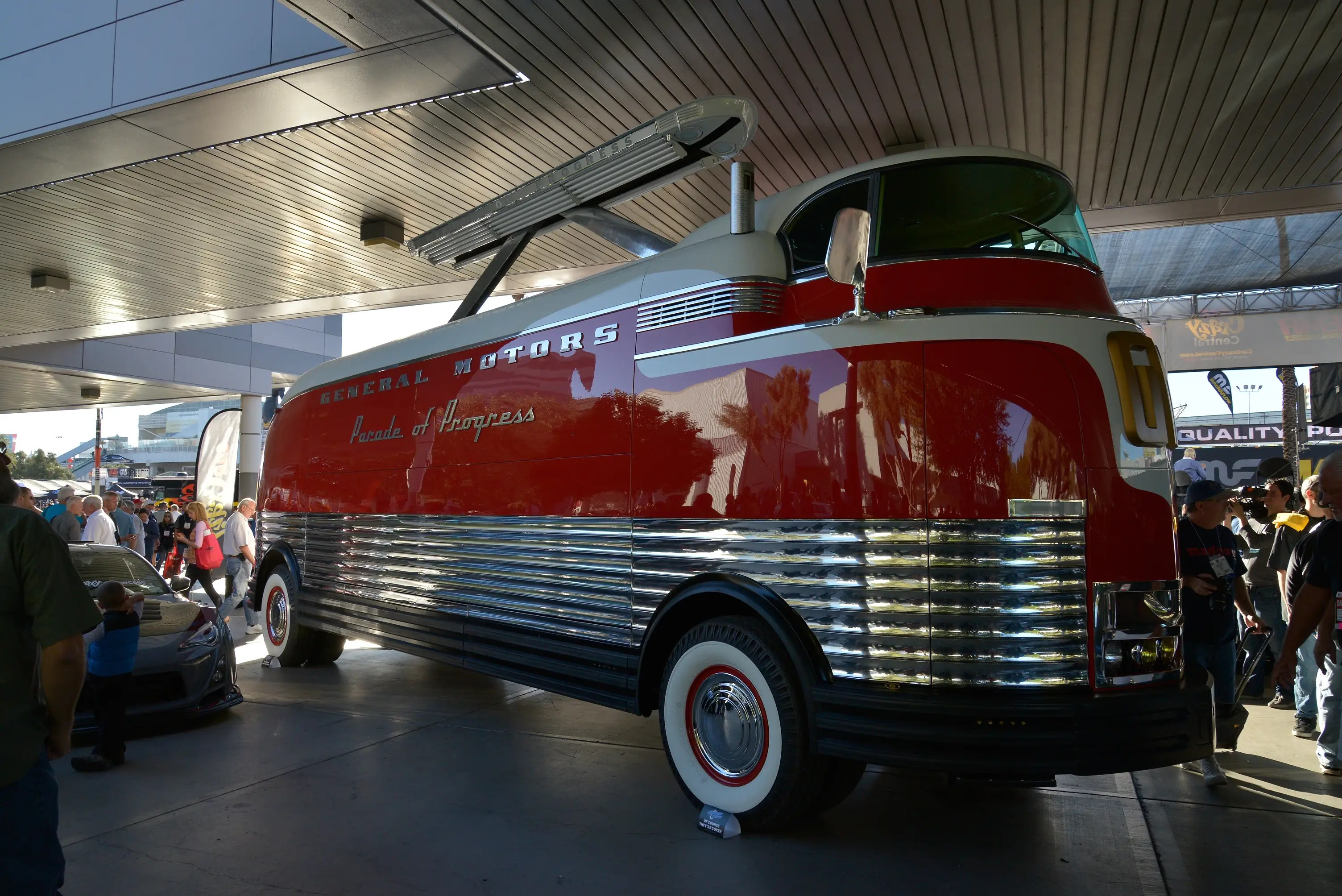 ... and this classy General Motors Futureliner are a reminder that what is old can be new and cool once again.