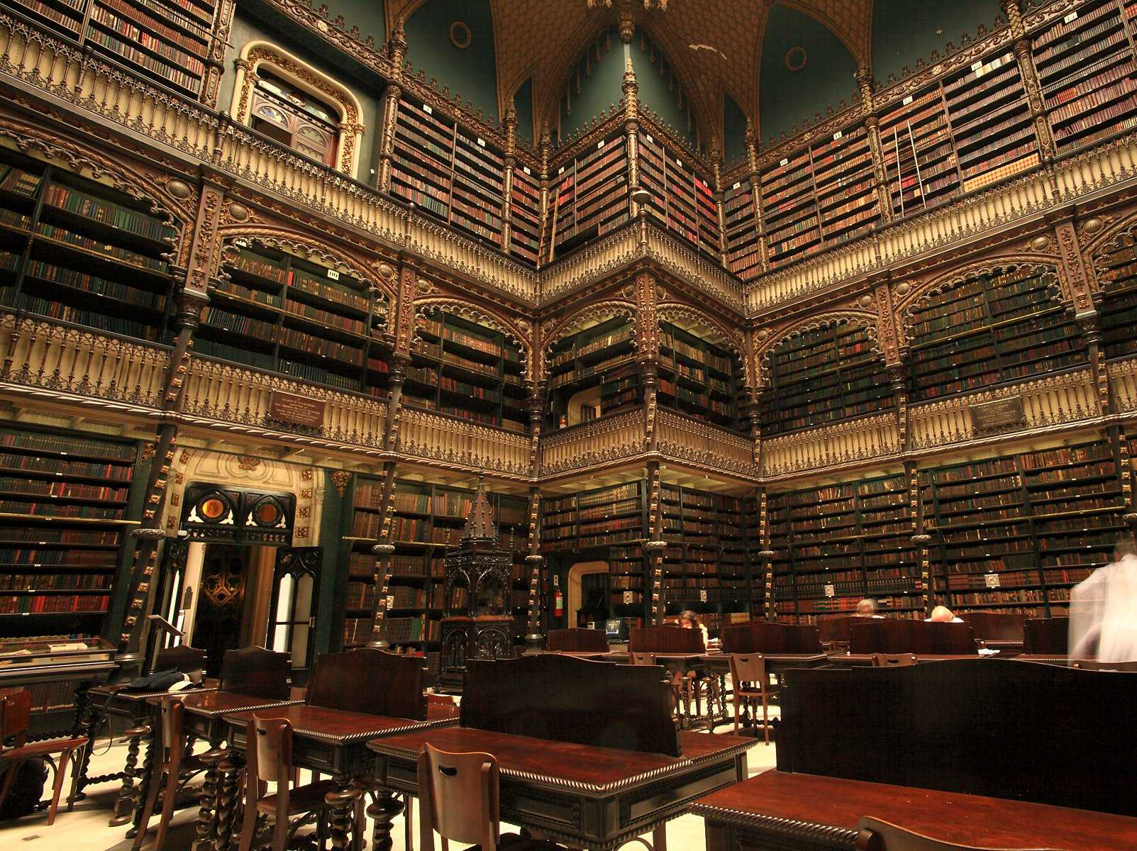 Most Beautiful Libraries From Around The World - Royal Portuguese Reading Room